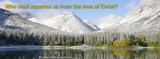 Christian Facebook Cover: Romans 8:35